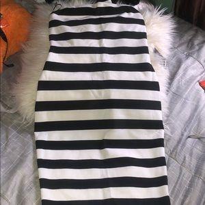 Black and white Halter tube dress